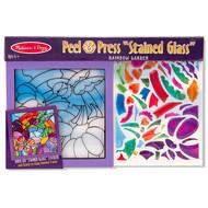 Melissa & Doug Melissa & Doug Peel & Press Stained Glass - Rainbow Garden