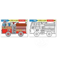Melissa & Doug Melissa & Doug Colour-a-Mat Fire Engine_
