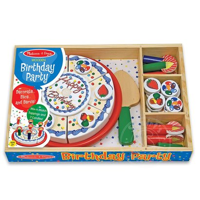 Melissa Doug Wooden Birthday Party Play Food Squirt S