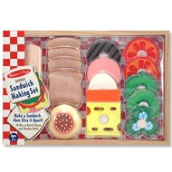 Melissa & Doug Melissa & Doug Wooden Sandwich Making Set Play food
