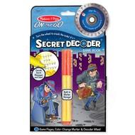 Melissa & Doug Melissa & Doug On the Go Secret Decoder Spy Decoder Game Book
