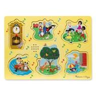 Melissa & Doug Melissa & Doug Sing-Along Nursery Rhymes 1 Sound Peg Puzzle