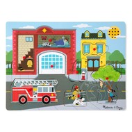 Melissa & Doug Melissa & Doug Around the Fire Station Sound Peg Puzzle