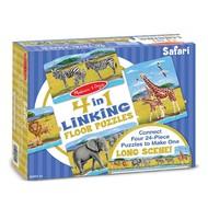 Melissa & Doug Melissa & Doug Safari Linking Floor Puzzle 4 x 24pcs _