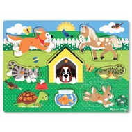 Melissa & Doug Melissa & Doug Friendly Pets Peg Puzzle