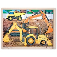 Melissa & Doug Melissa & Doug Construction Site Wooden Tray Puzzle 24pcs
