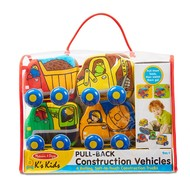 Melissa & Doug Melissa & Doug K's Kids Pull-Back Construction Vehicles