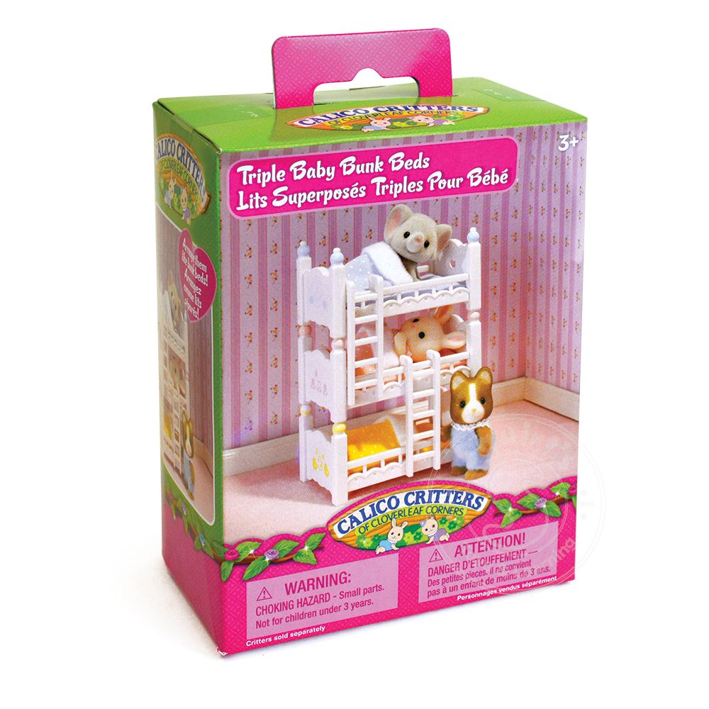 Calico Critters Triple Baby Bunk Beds Squirt S Toys