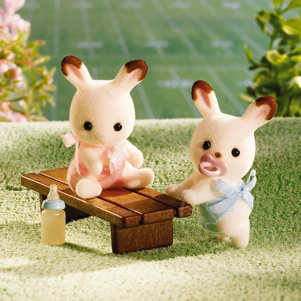 Calico Critters Hopscotch Rabbit Twins - Squirt's Toys ...