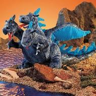 Folkmanis Folkmanis Blue Three-Headed Dragon