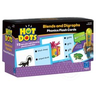 Educational Insights Hot Dots Phonics Flash Cards Set 4 Blends and Diagraphs