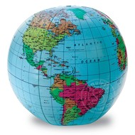"""Learning Resources 12"""" Inflatable World Globe"""