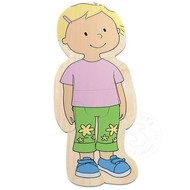 Hape Your Body Puzzle Girl, 5 Layer Puzzle
