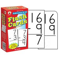 Carson Dellosa Subtraction 0-12 Flash Cards