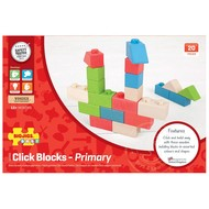 Bigjigs BigJigs Colored Click Blocks (20 pcs)