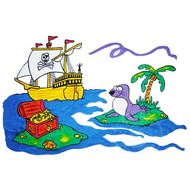 Artburn Pillow Case Painting Kit - Pirate Treasure Chest