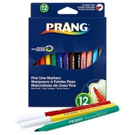 Prang Prang Fine Line Markers 12 Colour Set Washable