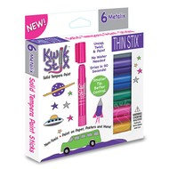 The Pencil Grip Kwik Stix Thin Stix Tempra Paint 6 Pack Metalix