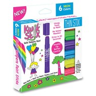 The Pencil Grip Kwik Stix Thin Stix Tempra Paint 6 Pack Neon