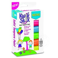 The Pencil Grip Kwik Stix Tempra Paint 6 Pack Neon