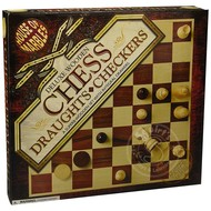 House of Marbles Wooden Chess & Draughts Set