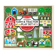 Melissa & Doug Melissa & Doug Wooden Farm & Tractor Play Set