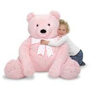Melissa & Doug Melissa & Doug Plush Jumbo Teddy Bear Pink