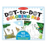 Melissa & Doug Melissa & Doug ABC 123 Dot-to-Dot Coloring Pad - Wild Animals