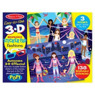 Melissa & Doug Melissa & Doug Easy to See 3D Reusable Sticker Pad - Fashions _