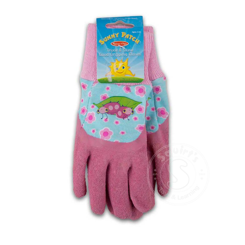 Melissa /& Doug Dixie and Trixie Ladybug Good Gripping Gardening Gloves Melissa and Doug 6754