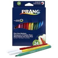 Prang Prang Fine Line Markers 24 Colour Set Washable