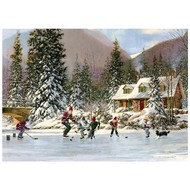 Cobble Hill Puzzles Cobble Hill Hockey Pond Tray Puzzle 35pcs