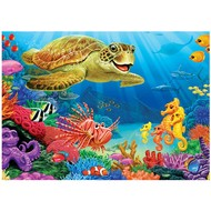 Cobble Hill Puzzles Cobble Hill Undersea Turtle Tray Puzzle 35pcs