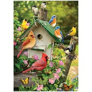 Cobble Hill Puzzles Cobble Hill Singing Around the Birdhouse Tray Puzzle 35pcs