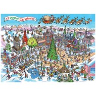 Cobble Hill Puzzles Cobble Hill Doodletown 12 Days of Christmas Puzzle 1000pcs