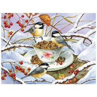 Cobble Hill Puzzles Cobble Hill Chickadee Tea Easy Handling Puzzle 275pcs
