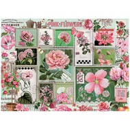Cobble Hill Puzzles Cobble Hill Pink Flowers Puzzle 1000pcs