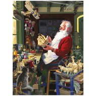 Cobble Hill Puzzles Cobble Hill Santa's Workbench Puzzle 500pcs