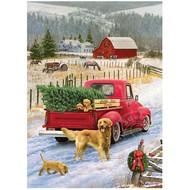 Cobble Hill Puzzles Cobble Hill Christmas on the Farm Puzzle 1000pcs