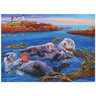 Cobble Hill Puzzles Cobble Hill Sea Otter Family Puzzle 350pcs