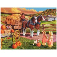 Cobble Hill Puzzles Cobble Hill Hay Wagon Easy Handling Puzzle 275pcs