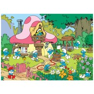 Cobble Hill Puzzles Cobble Hill Spring Cleaning at Smurfette's House Puzzle 500pcs