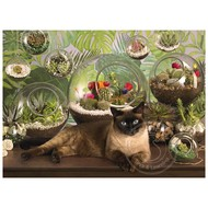 Cobble Hill Puzzles Cobble Hill Terrarium Cat Puzzle 1000pcs