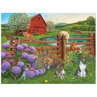 Cobble Hill Puzzles Cobble Hill Farm Cats Easy Handling Puzzle 275pcs