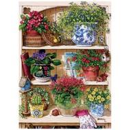 Cobble Hill Puzzles Cobble Hill Flower Cupboard Puzzle 500pcs
