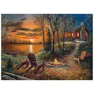 Cobble Hill Puzzles Cobble Hill Fireside Puzzle 500pcs