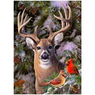 Cobble Hill Puzzles Cobble Hill One Deer Two Cardinals Puzzle 500pcs