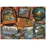 Cobble Hill Puzzles Cobble Hill Cabin Signs Puzzle 1000pcs