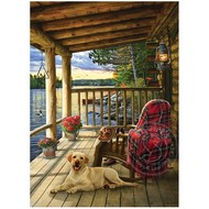 Cobble Hill Puzzles Cobble Hill Lake Cabin Labrador Tray Puzzle 35pcs