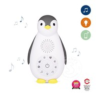 Zoe the Penguin Zazu Music Box with Nightlight Grey
